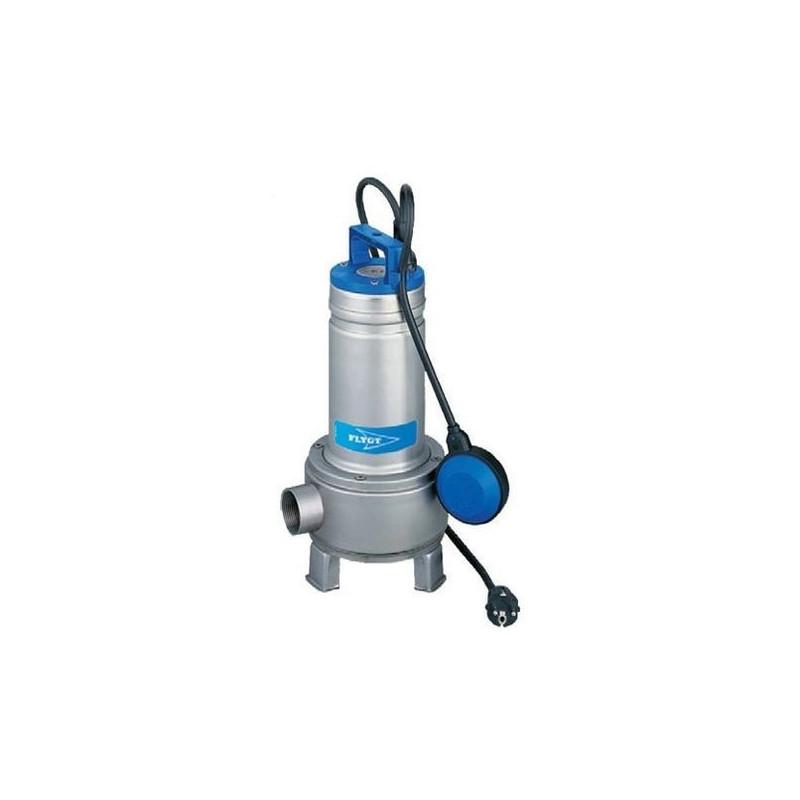 Pompe de relevage Flygt Delinox DX eau usée avec roue bi-canal monophasé 220V