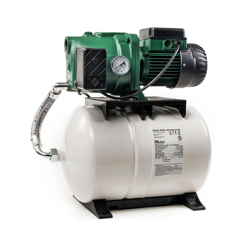 Surpresseur 100L DAB Aquajet GWS - Réservoir horizontal à diaphragme avec pompe a eau jet 132 monophasé 220V