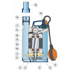 Pompe de relevage Pedrollo Top jusqu'à 21,6 m3/h monophasé 220V