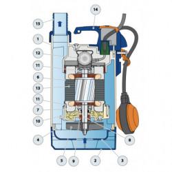Pompe de relevage Pedrollo Top Vortex GM jusqu'à 10,8 m3/h monophasé 220V