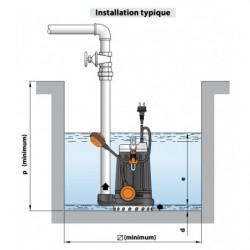 Pompe de relevage Pedrollo DC jusqu'à 18 m3/h monophasé 220V