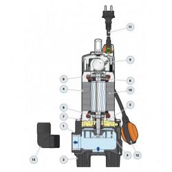 Pompe de relevage Pedrollo ZX jusqu'à 24 m3/h monophasé 220V
