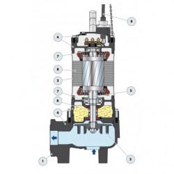 Pompe de relevage Pedrollo VX 50 jusqu'à 60 m3/h triphasé 380V