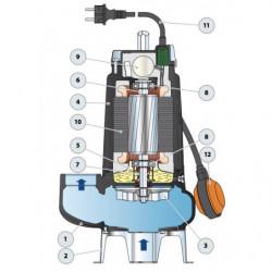 Pompe de relevage Pedrollo VXC 35-45 jusqu'à 39 m3/h monophasé 220V