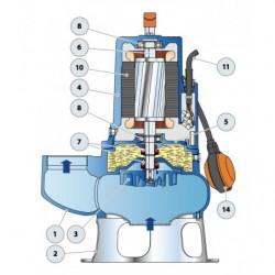 Pompe de relevage Pedrollo VXC 50-70 jusqu'à 54 m3/h monophasé 220V