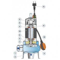 Pompe de relevage Pedrollo VX-ST jusqu'à 39 m3/h triphasé 380V