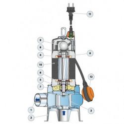 Pompe de relevage Pedrollo BC-ST jusqu'à 45 m3/h triphasé 380V