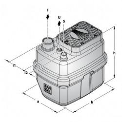 Station de relevage 100L Pedrollo SAR 100 - Pompe a eau monophasé 220V