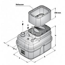 Station de relevage 250L Pedrollo SAR 250 Eco - Pompe a eau monophasé 220V
