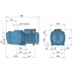 Pompe a eau Calpeda MGP multicellulaire jusqu'à 5,4 m3/h triphasé 380V
