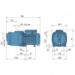 Pompe a eau Calpeda MGP multicellulaire jusqu'à 7,2 m3/h monophasé 220V