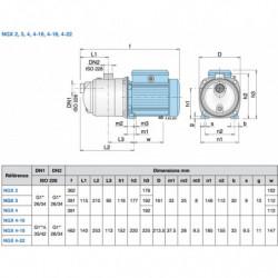 Pompe a eau Calpeda NGX autoamorçante inox jusqu'à 8,4 m3/h triphasé 380V