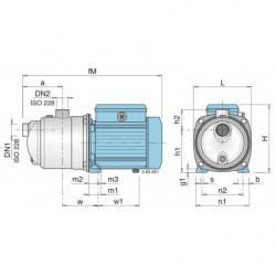 Pompe a eau Calpeda MXA autoamorçante inox triphasé 380V