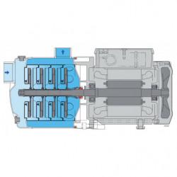 Pompe a eau Calpeda MXH multicellulaire tout inox jusqu'à 13 m3/h monophasé 220V