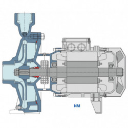 Pompe a eau Calpeda NM centrifuge taraudée de 1 à 8,4 m3/h triphasé 380V