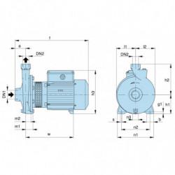 Pompe a eau Calpeda NMD 20 centrifuge taraudée de 1 à 6,6 m3/h monophasé 220V