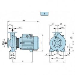 Pompe a eau Calpeda NM 32 centrifuge à brides de 6,6 à 24 m3/h monophasé 220V