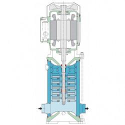 Pompe a eau Calpeda MXV-B multicellulaire tout inox jusqu'à 25 m3/h triphasé 380V