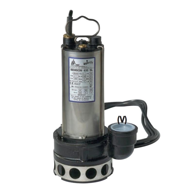 Pompe de relevage DAB Sémisom 635 eau usée sortie verticale triphasé 380V