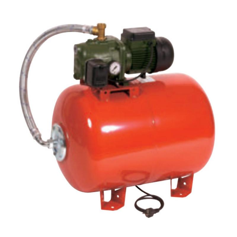 Surpresseur 100L DAB Aquajet Red - Réservoir horizontal à vessie avec pompe a eau monophasé 220V