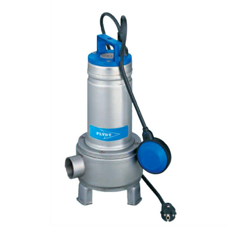 Pompe de relevage Flygt Delinox DXV eau usée avec roue vortex triphasé 380V