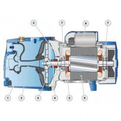 Pompe a eau Pedrollo JSW 2 auto-amorçante monophasé 220V