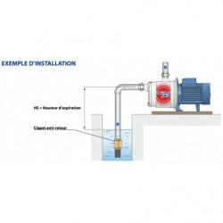 Pompe a eau Pedrollo Plurijet multicellulaire de 1,8 à 3 m3/h triphasé 380V