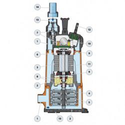 Pompe immergée Pedrollo Top Multi-Evotech de 1,8 à 4,8 m3/h monophasé 220V