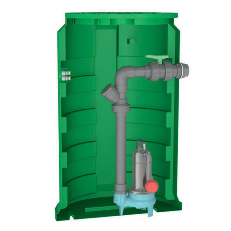 Station de relevage Calpeda CALIDOM2000GQSM5013 1,10 kW eau chargée jusqu'à 36 m3/h monophasé 220V